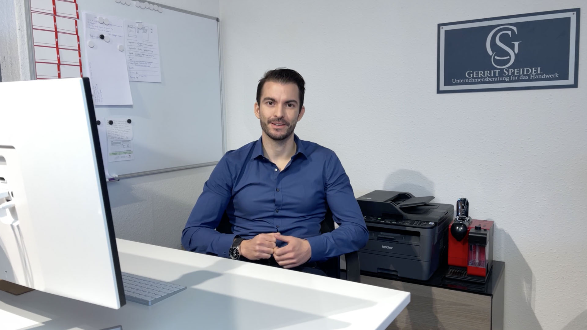 Gerrit Speidel im Büro