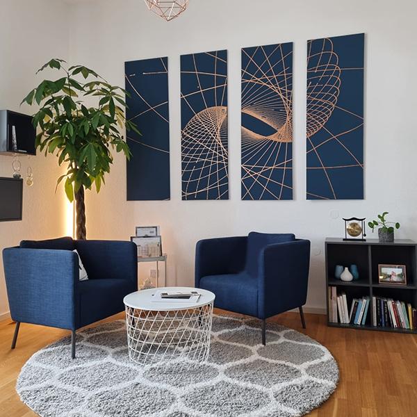 Besucherecke im Büro von Gerrit Speidel